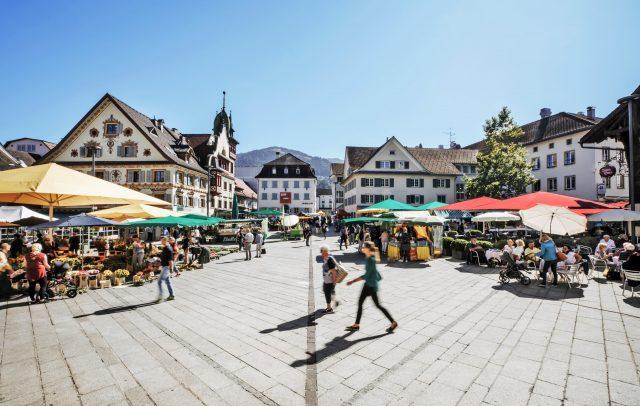 Wochenmarkt in Dornbirn © Angela Lamprecht / Vorarlberg Tourismus
