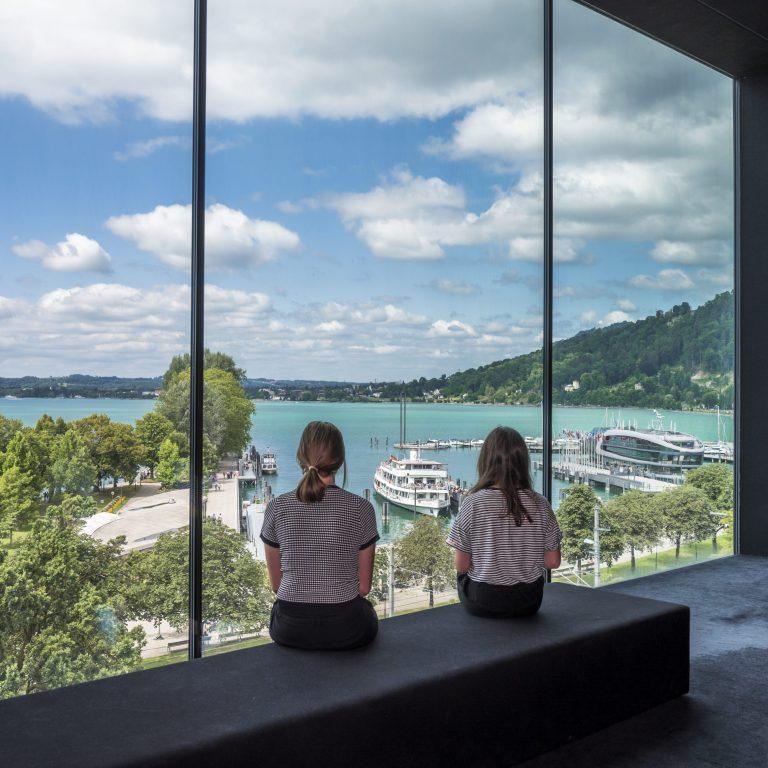 Blick aus Panoramaraum Museum © Gregor Lengler / Vorarlberg Tourismus