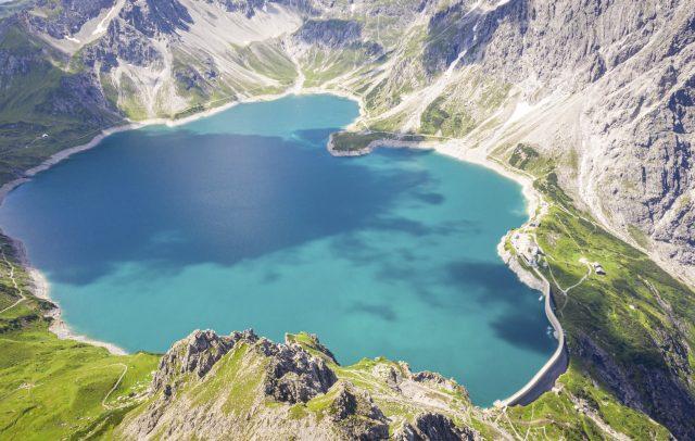 Lünersee von oben © Dietmar Denger / Vorarlberg Tourismus