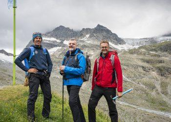 Piz Buin Bezwinger Andreas Pecl Thomas Ogermann und Jochen Krauss © Dietmar Denger / Vorarlberg Tourismus