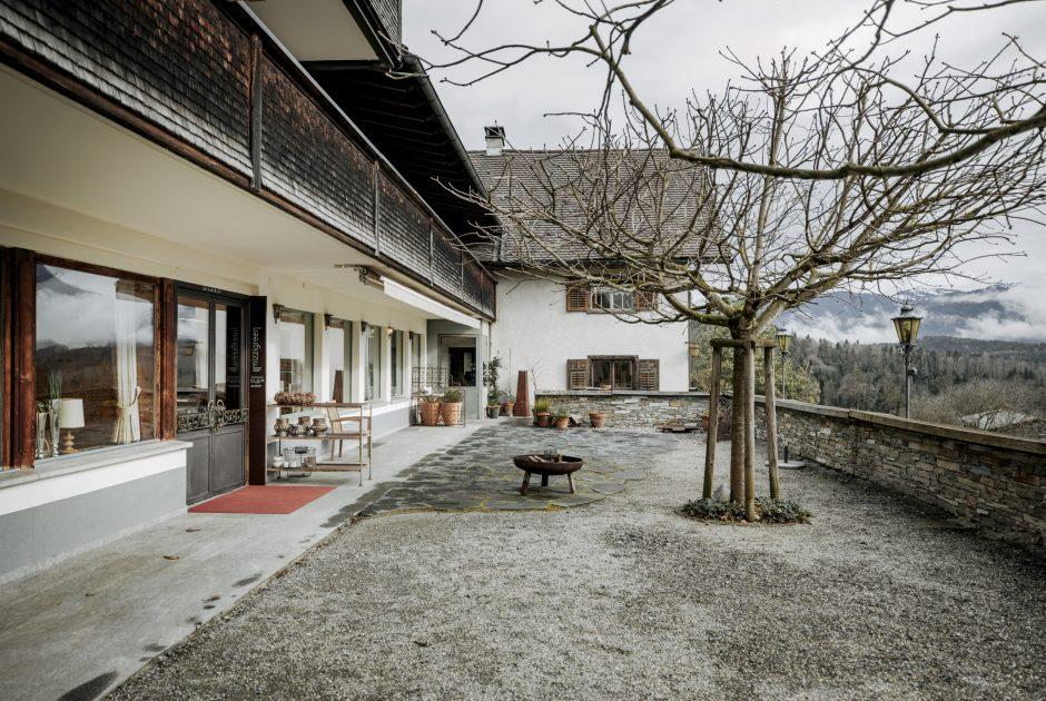 Restaurant Mizzigreen Außenansicht im Winter © Angela Lamprecht / Vorarlberg Tourismus