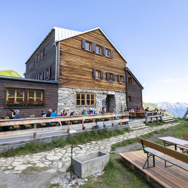 Stuttgarter Hütte © Lucas Tiefenthaler / Vorarlberg Tourismus