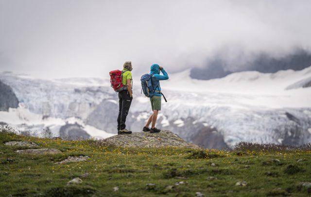 In front of the Ochsentaler Glacier