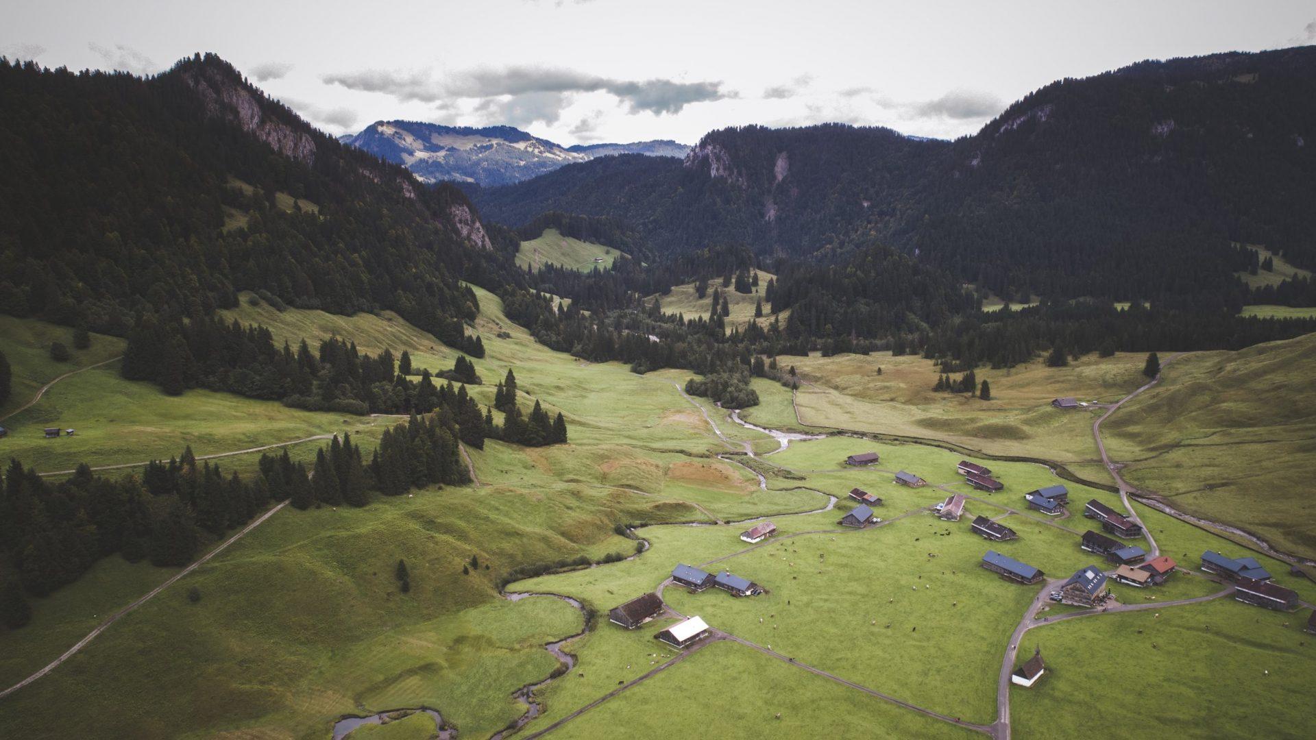 Schönenbach von oben  (c) Thomas Stanglechner / Vorarlberg Tourismus