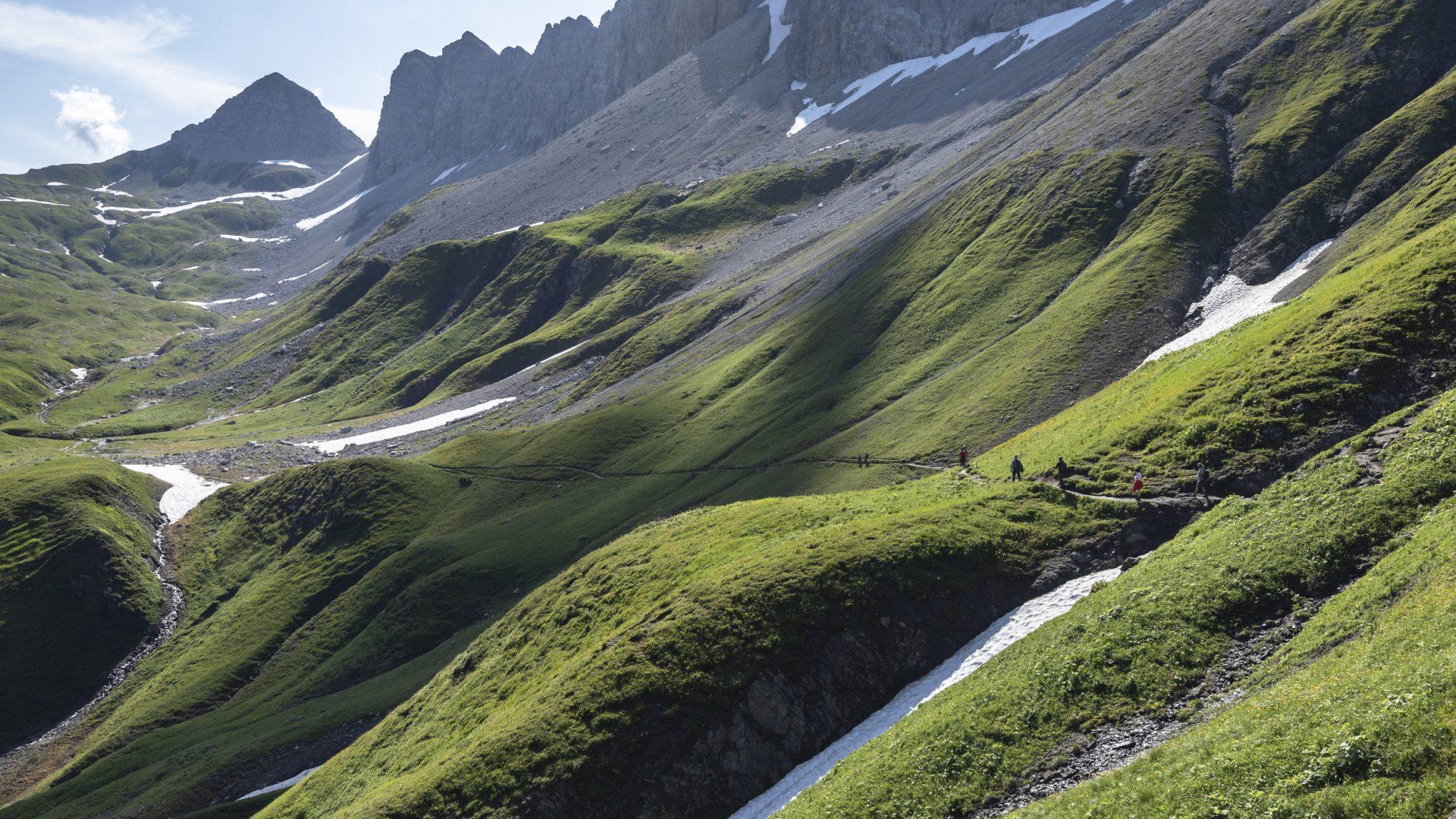 Weg zur Raukopfscharte (c) Lucas Tiefenthaler / Vorarlberg Tourismus