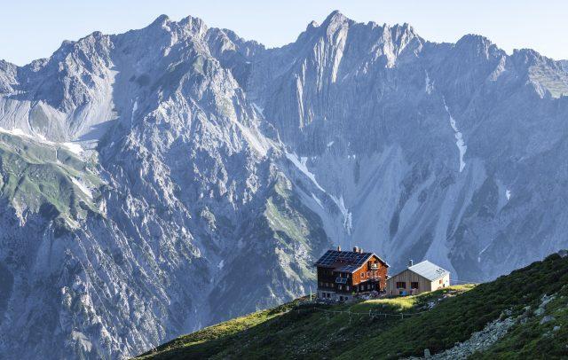 04-Rückblick-Kaltenberghütte © Lucas Tiefenthaler / Vorarlberg Tourismus