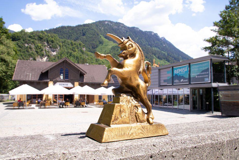 Alpinale Kurzfilmfestival, Das Einhorn vor der Remise Bludenz (c) Anna Salcher I Alpinale
