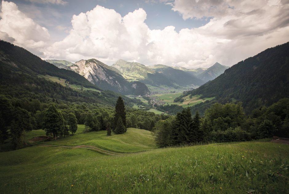 Talkessel Blick vom Auer Ried (c) Emanuel Sutterlüty_Au-Schoppernau Tourismus