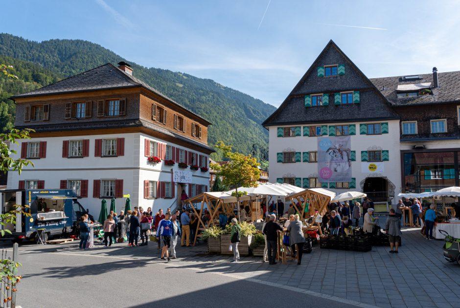Wochenmarkt Bezau © Katrin Preuss / Vorarlberg Tourismus