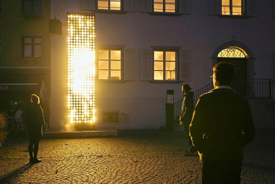Spotlight 2020, NEON GOLDEN PORTAL © Miro Kuzmanovic / Lichtstadt Feldkirch