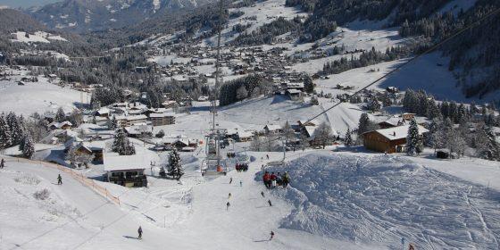 Blick auf Hirschegg @ Oberstdorf Kleinwalsertal Bergbahnen