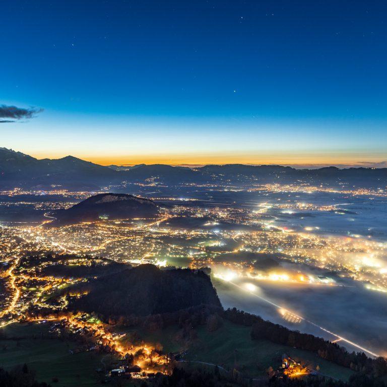Blick auf Kummenberg und Rheintal © Oberhauser Photography I Vorarlberg Tourismus