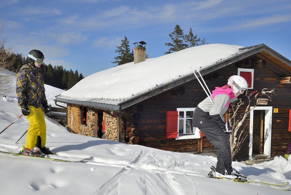 Skifahrer im Brandnertal © Sepp Mallaun / Vorarlberg Tourismus