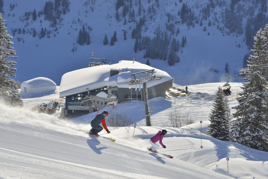 Skigebiet Lech Schlegelkopf-Bergstation © Sepp Mallaun / Vorarlberg Tourismus