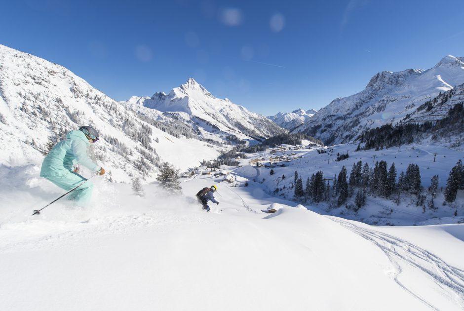 Freeriden im Freeriden im Skigebiet Warth-Schröcken © Alex Kaiser / Warth-Schröcken Tourismus