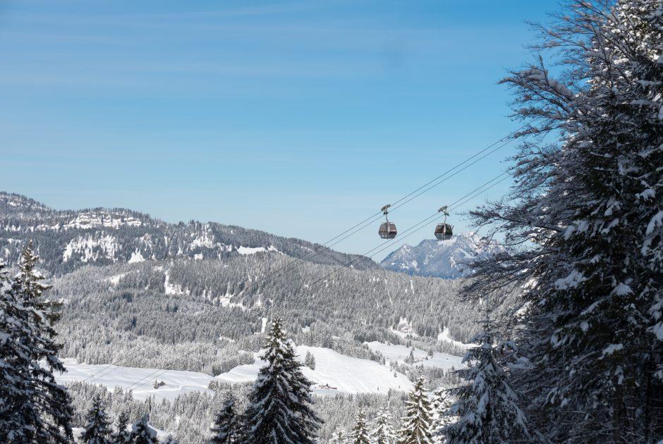 Kanzelwandbahn in the Oberstdorf Kleinwalsertal ski resort© Oberstdorf Kleinwalsertal Bergbahnen