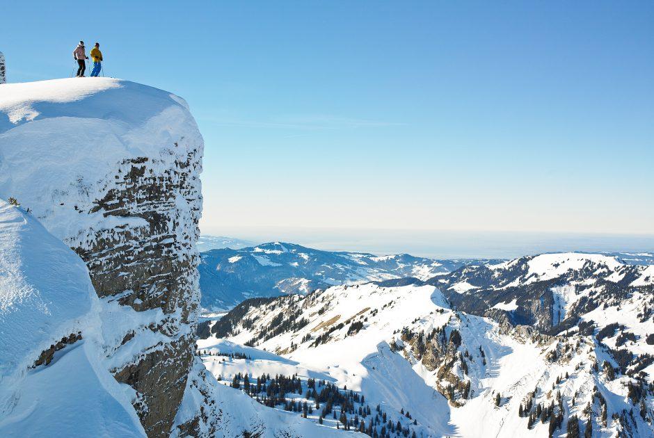 Skifahren am Diedamskopf (c) Alex Kaiser - Diedamskopf Alpin Tourismus GmbH Co KG