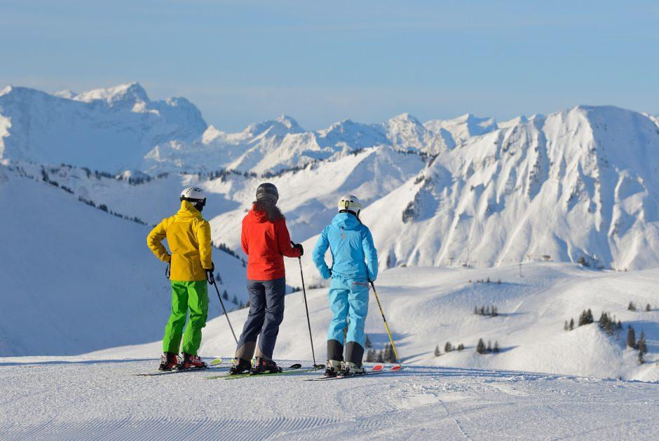 Panoramablick im Skigebiet Damüls-Mellau (c) Sepp Malllaun-Vorarlberg Tourismus