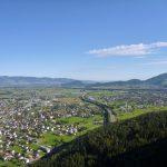 Blick über A14 Richtung Kummenberg