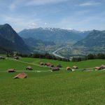Blick über Gnalp in das Rheintal