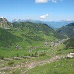 Malbuntal mit der Alvierkette und Alpstein im Hintergrund