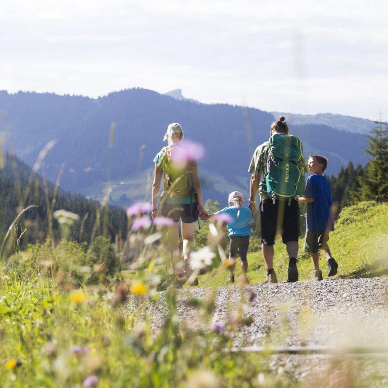 Familienwanderung auf der Fluchtalpe (c) Oliver Farys - Kleinwalsertal Tourismus eGen
