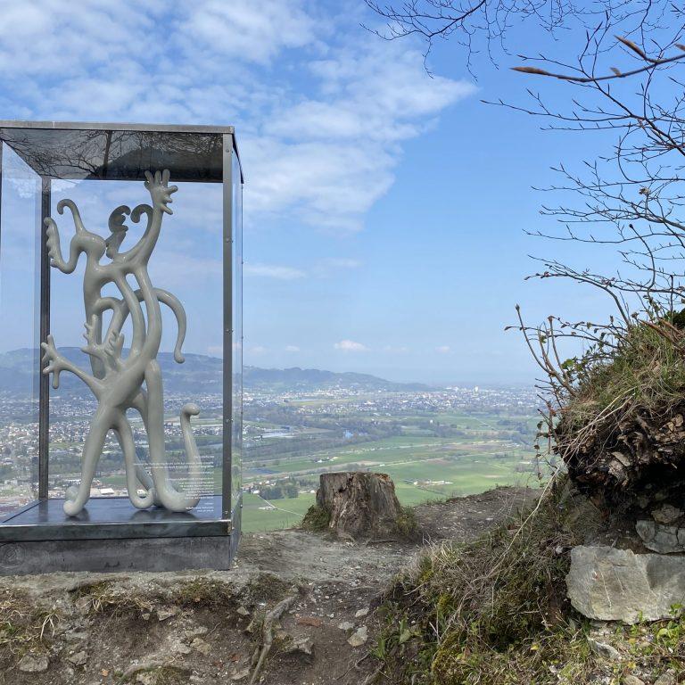 Ausstellung Die Unbefleckte von Maria Dalpra auf dem Schlossberg Hohenems (c) Dieter Heidegger