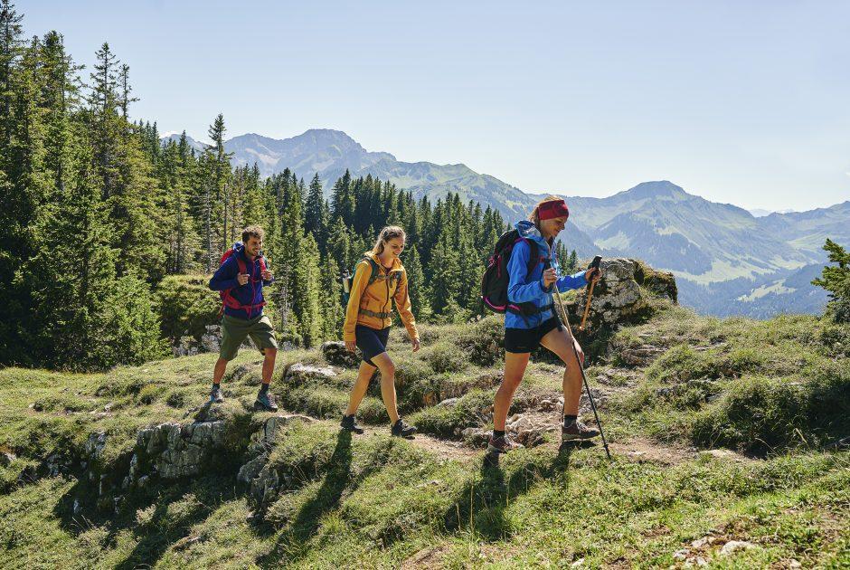 Wandern beim Liegstein in Au © Alex Kaiser / Bregenzerwald Tourismus