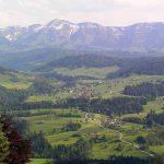 Blick auf Krumbach vom Dorfzentrum Sulzberg