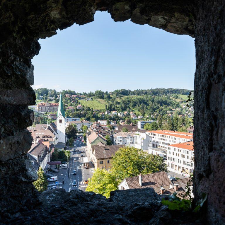 Blick von der Schattenburg Feldkirch © Lucas Tiefenthaler / Vorarlberg Tourismus
